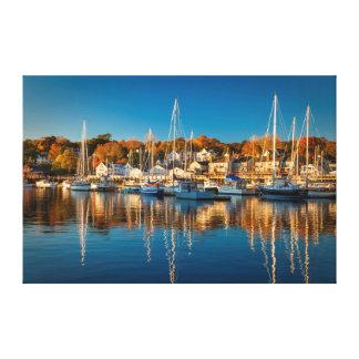 キャムデン港の秋の朝、キャムデン2 キャンバスプリント