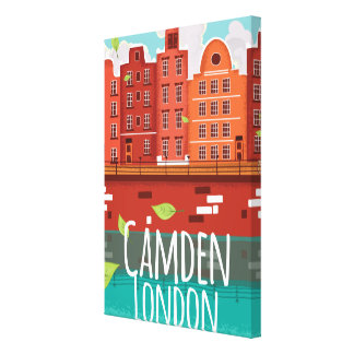 キャムデン、ロンドンのヴィンテージ旅行ポスター キャンバスプリント