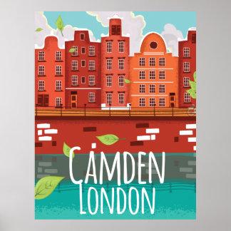 キャムデン、ロンドンのヴィンテージ旅行ポスター ポスター