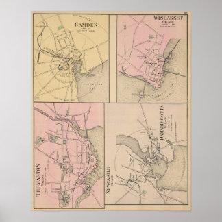 キャムデン、Wiscasset、Damariscotta、ニューキャッスル ポスター