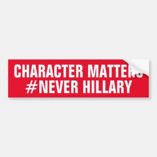 キャラクターはヒラリー決して重要ではないです バンパーステッカー