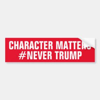 キャラクターは切札決して重要ではないです バンパーステッカー