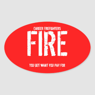 キャリアの消防士 楕円形シール