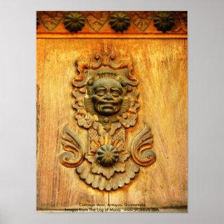 キャリッジドア、アンチグア、グアテマラ ポスター