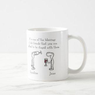 キャロラインおよびジェーン コーヒーマグカップ