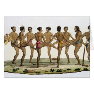 キャロラインの島民のダンスは、「Leからの22をめっきします カード