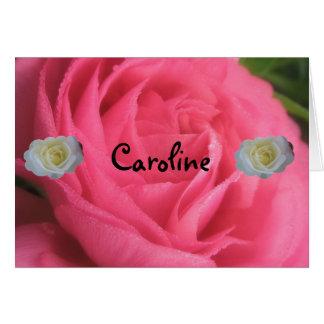 キャロライン カード