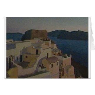キャロラインDimond著Santoriniの絵画のデザイン カード