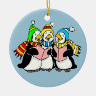 キャロルの歌うペンギン子供引くこと セラミックオーナメント