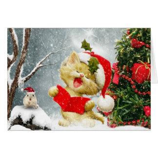 キャロルの歌手のクリスマスカード グリーティングカード