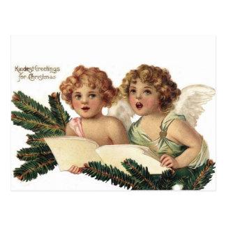 キャロルを歌っている天使 ポストカード