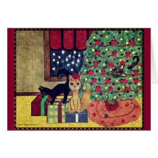 キャロルZeock著有害な猫ちゃんのクリスマスカード グリーティングカード