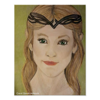 キャロルZeock著美しい小妖精や小人のプリンセス ポスター