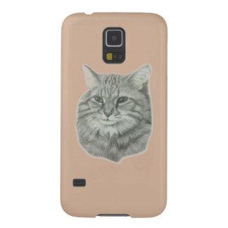 キャロルZeock著長い髪猫のオリジナルのアートワーク Galaxy S5 ケース