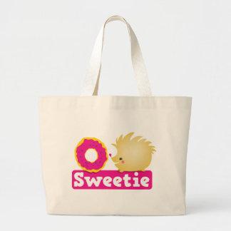 キャンディのハリネズミ ラージトートバッグ