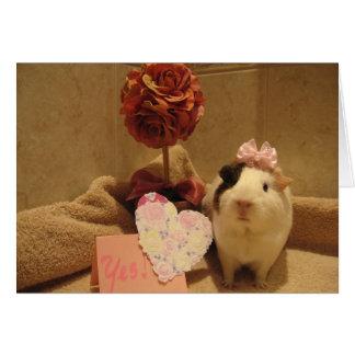 キャンディのバレンタイン カード