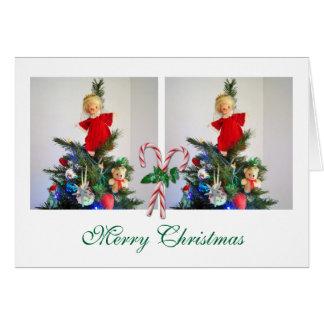 キャンディ・ケーンが付いている2写真 カード