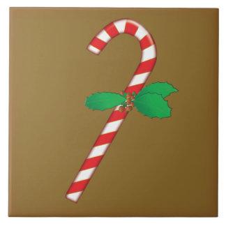 キャンディ・ケーンのクリスマスのタイル タイル