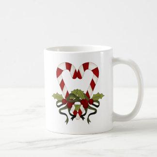 キャンディ・ケーンのクリスマスのハート コーヒーマグカップ