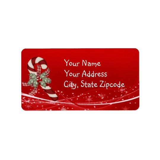 キャンディ・ケーンのクリスマス 宛名ラベル