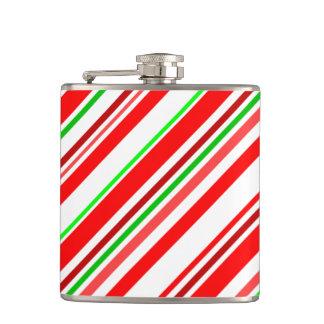 キャンディ・ケーンのストライプなクリスマスの応援の休日 フラスク