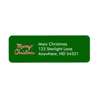 キャンディ・ケーンのストライプのなメリークリスマス ラベル