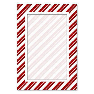 キャンディ・ケーンのストライプの休日のテーブル数カード カード