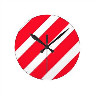 キャンディ・ケーンのストライプ ラウンド壁時計