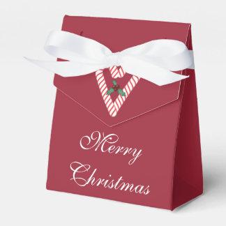 キャンディ・ケーンのハートのクリスマスのギフト用の箱 フェイバーボックス