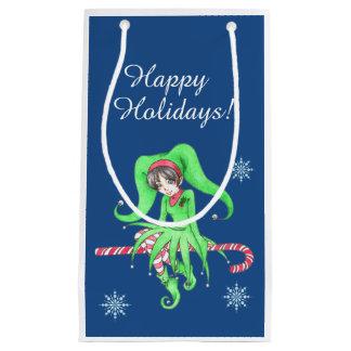 キャンディ・ケーンの小妖精や小人のギフトバッグ スモールペーパーバッグ