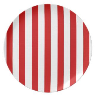 キャンディ・ケーンの明るい赤のストライプのギフトのコレクション ディナー皿