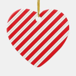 キャンディ・ケーンの赤のストライプ セラミックオーナメント