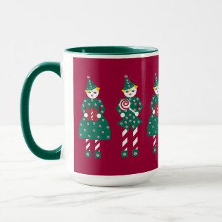 キャンディ・ケーンのMartzkinのクリスマスのマグ マグカップ