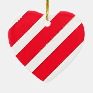 キャンディ・ケーンは縞で飾ります セラミックオーナメント