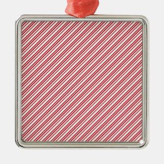 キャンディ・ケーンは縞で飾ります メタルオーナメント