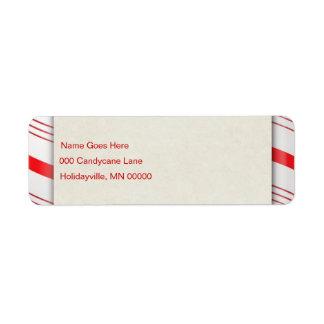 キャンディ・ケーンは縞で飾ります ラベル