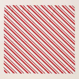 キャンディ・ケーンは、赤と白ペパーミント縞で飾ります スカーフ