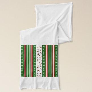 キャンディ・ケーン及びペパーミントは縞で飾ります スカーフ