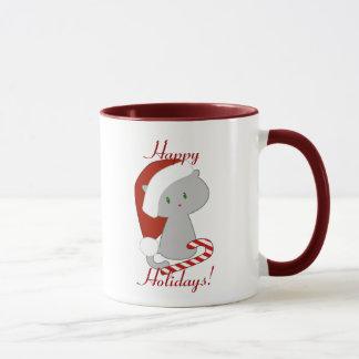 キャンディ・ケーン猫のマグ マグカップ