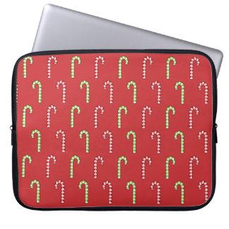 キャンディ・ケーン赤い緑パターンラップトップスリーブ ラップトップスリーブ