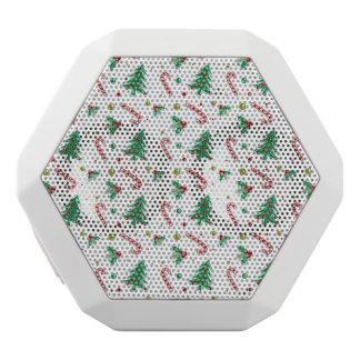 キャンディ・ケーン、ヤドリギおよびクリスマスツリー ホワイトBluetoothスピーカー