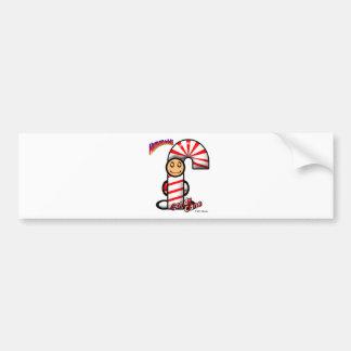 キャンディ・ケーン(ロゴと) バンパーステッカー