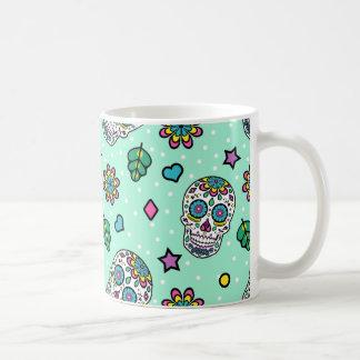 キャンデーのカラフルな砂糖のスカル コーヒーマグカップ