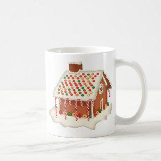 キャンデーのジンジャーブレッドのコテージのクリスマスのクリスマスの休日 コーヒーマグカップ
