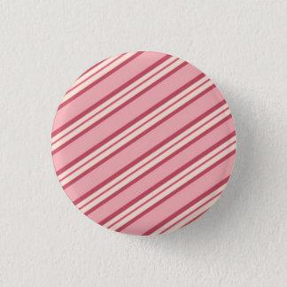 キャンデーのストライプ: ペパーミント 缶バッジ
