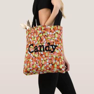 キャンデーのトウモロコシおよびカボチャキャンデーのトリック・オア・トリートのバッグ トートバッグ