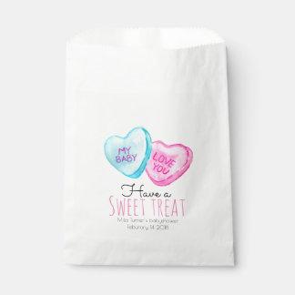 キャンデーのハートのバレンタインデーのベビーシャワーの好意のバッグ フェイバーバッグ