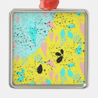 キャンデーのパステルのポップアートパターン メタルオーナメント