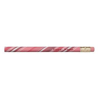 キャンデーのピンクのストライプ 鉛筆