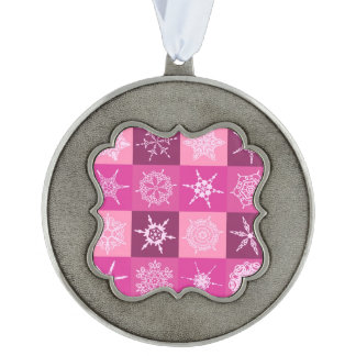 キャンデーのピンクの雪片のコレクション オーナメント